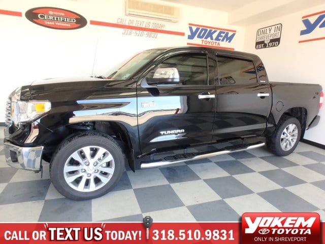 Certified Pre Owned 2017 Toyota Tundra 4wd Limited Crew Cab Pickup In Shreveport P9344 Yokem